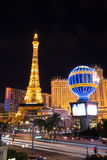 Eiffel Tower and Hotel Paris. In Las Vegas Royalty Free Stock Images