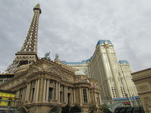 Eiffel Tower Hotel and Restaurant Stock Photo