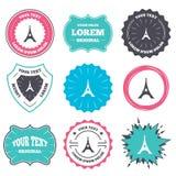 Eiffel tower icon. Paris symbol. Royalty Free Stock Photography