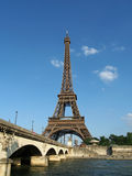 Eiffel tower and Iena bridge, Paris Stock Photos