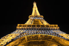 Eiffel Tower illuminated at night Stock Image