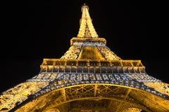 Eiffel Tower illuminated at night Stock Image