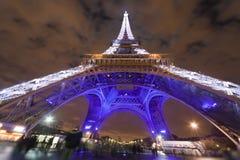 Eiffel Tower illuminated at night Royalty Free Stock Images
