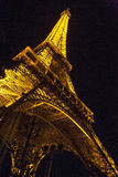 Eiffel Tower illuminated at night Royalty Free Stock Photo