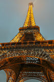 The Eiffel Tower illuminated, Paris, France.  Royalty Free Stock Images