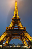 The Eiffel Tower illuminated, Paris, France.  Stock Photography