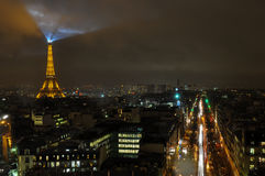 The Eiffel Tower illuminated, Paris, France.  Royalty Free Stock Image