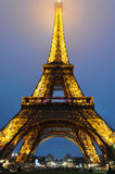 The Eiffel Tower illuminated, Paris, France.  Royalty Free Stock Photo