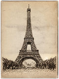 Eiffel tower illustration Stock Image