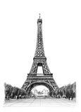 Eiffel tower illustration stock illustration