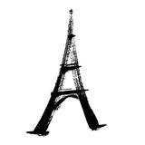 Eiffel tower illustration. Eiffel Tower painting with a paintbrush Royalty Free Stock Images