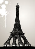 Eiffel tower illustration Royalty Free Stock Photo