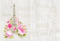 Eiffel tower illustration. Stock Photos