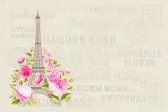 Eiffel tower illustration. Stock Image