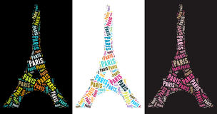 Eiffel Tower illustrations Royalty Free Stock Photography