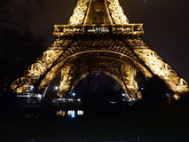 Eiffel tower iluminated at night Royalty Free Stock Photo