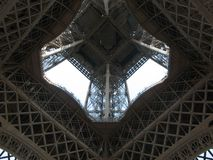 Eiffel Tower from Inside Royalty Free Stock Image