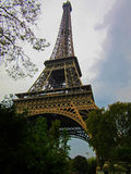 Eiffel Tower 1. The Eiffel Tower is an iron lattice tower located on the Champ de Mars in Paris. It was named after the engineer Gustave Eiffel, whose company Stock Photos