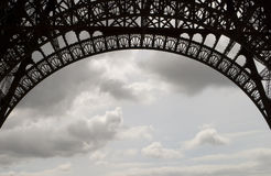 Eiffel Tower Ironwork Royalty Free Stock Photos