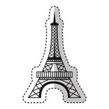 Eiffel tower isolated icon Royalty Free Stock Image