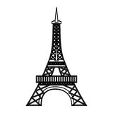 Eiffel tower isolated icon Stock Image