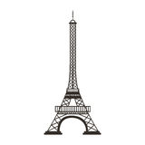 Eiffel tower isolated icon Stock Photography