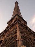 Eiffel tower isolated over blue sky at sunset royalty free stock photos