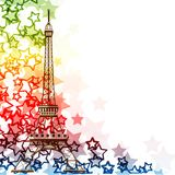 Eiffel tower isolated over the white background Royalty Free Stock Photo