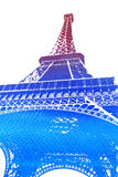 Eiffel tower isolated Stock Images