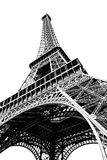 Eiffel Tower isolated on white Stock Images