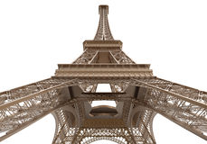 Eiffel Tower Isolated on White Background Royalty Free Stock Photo
