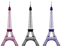 Eiffel tower isolated on white background. Paris, France. Vector illustration. Eiffel tower isolated on white background. Paris, France. Set vector illustration Royalty Free Stock Photo