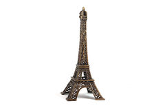 Eiffel Tower isolated on white Royalty Free Stock Image