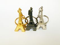 Eiffel tower key rings Royalty Free Stock Photos