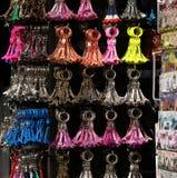 Eiffel tower keyholder souvenirs Stock Photo