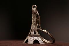 Eiffel tower keyring stock photo