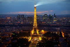 Eiffel Tower and la Defence Royalty Free Stock Images
