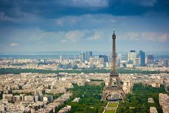 Eiffel tower and La Defense district Stock Image