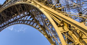 Eiffel Tower (La Tour Eiffel) located on Champ de Mars in Paris,. Named after engineer Gustave Eiffel. Eiffel Tower is tallest structure in Paris and most Royalty Free Stock Photos