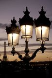 Eiffel Tower and Lamppost, Paris Royalty Free Stock Photos