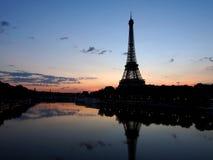Eiffel tower, paris city, france. Eiffel tower landmark of paris city in france. famous Landmark of paris. Sunset / Sunrise sky view for advertising purposes stock images