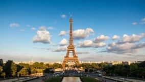 The Eiffel Tower, landmark of Paris, France stock images