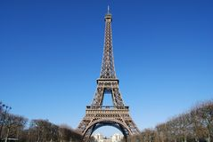 Eiffel Tower Landscape Stock Images