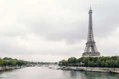 Eiffel Tower Landscape Photography Royalty Free Stock Photography
