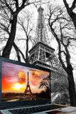 Eiffel Tower with laptop, Paris, France Royalty Free Stock Photography