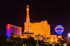 Eiffel Tower in Las Vegas Royalty Free Stock Photography