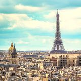 Eiffel Tower in late afternoon ,Paris Royalty Free Stock Image