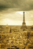 Eiffel Tower in late afternoon ,Paris Stock Photography