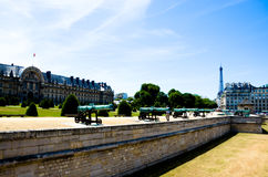 Eiffel Tower and Les Invalides Royalty Free Stock Images