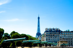 Eiffel Tower and Les Invalides Royalty Free Stock Photography